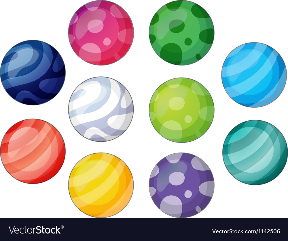 Group of balls vector