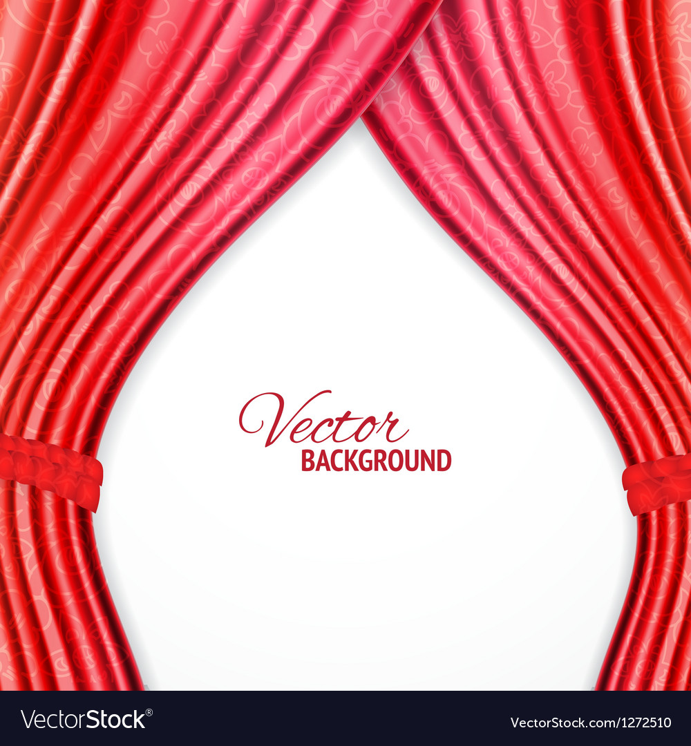 Red background with opera curtains vector