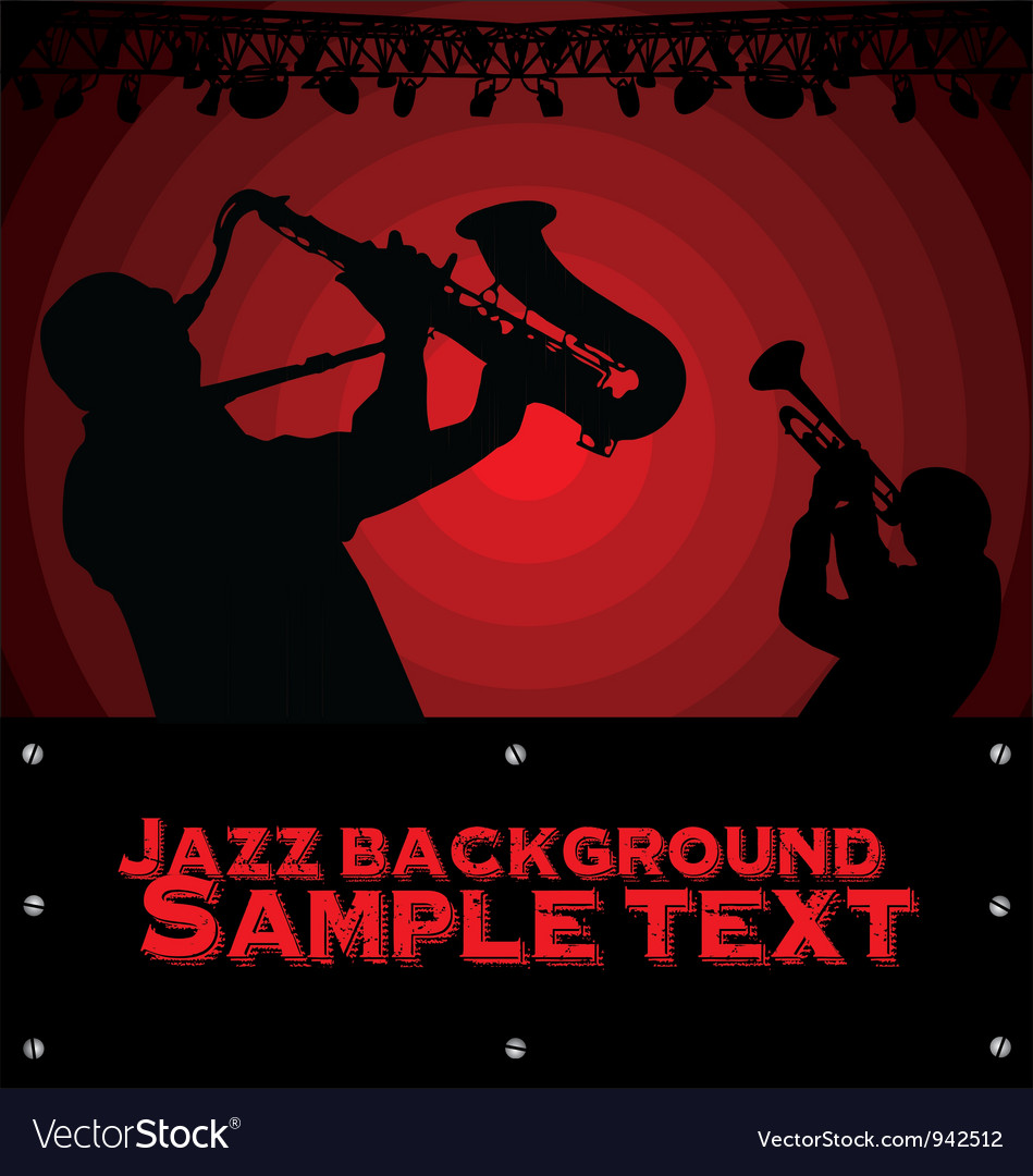 Abstract jazz music background vector