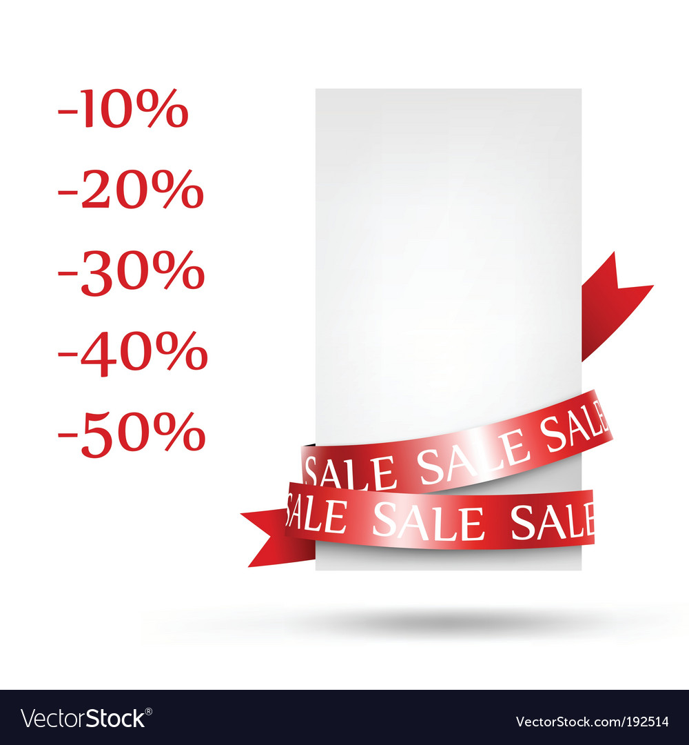 Sale retail vector