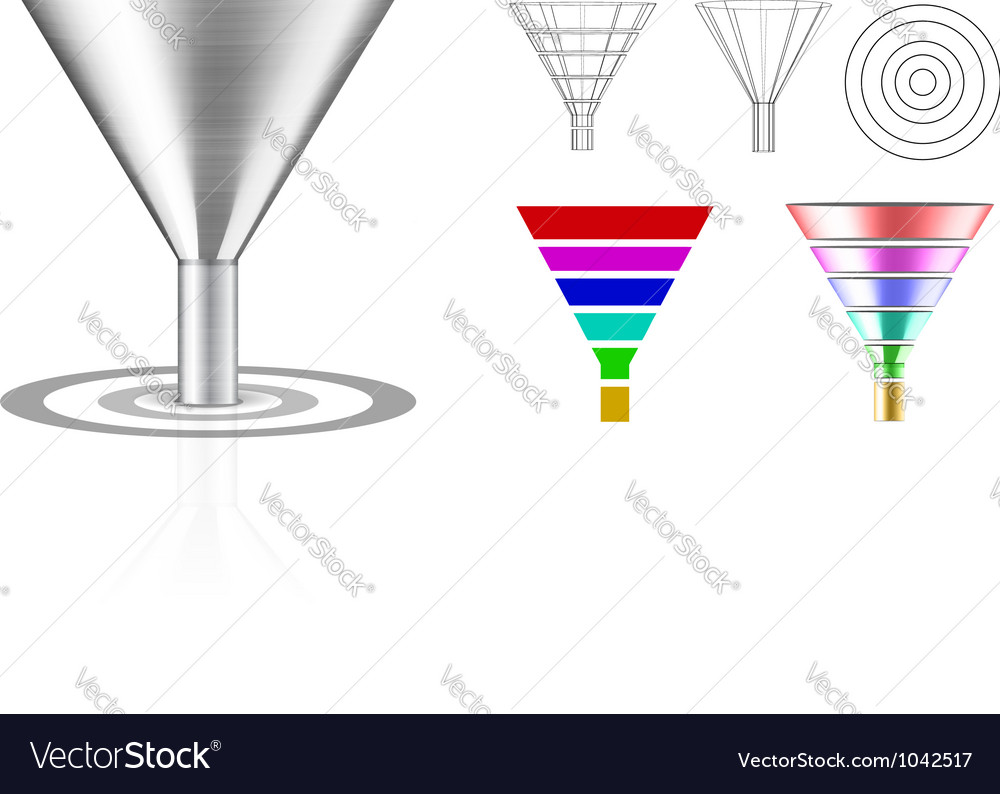Conversion funnel vector