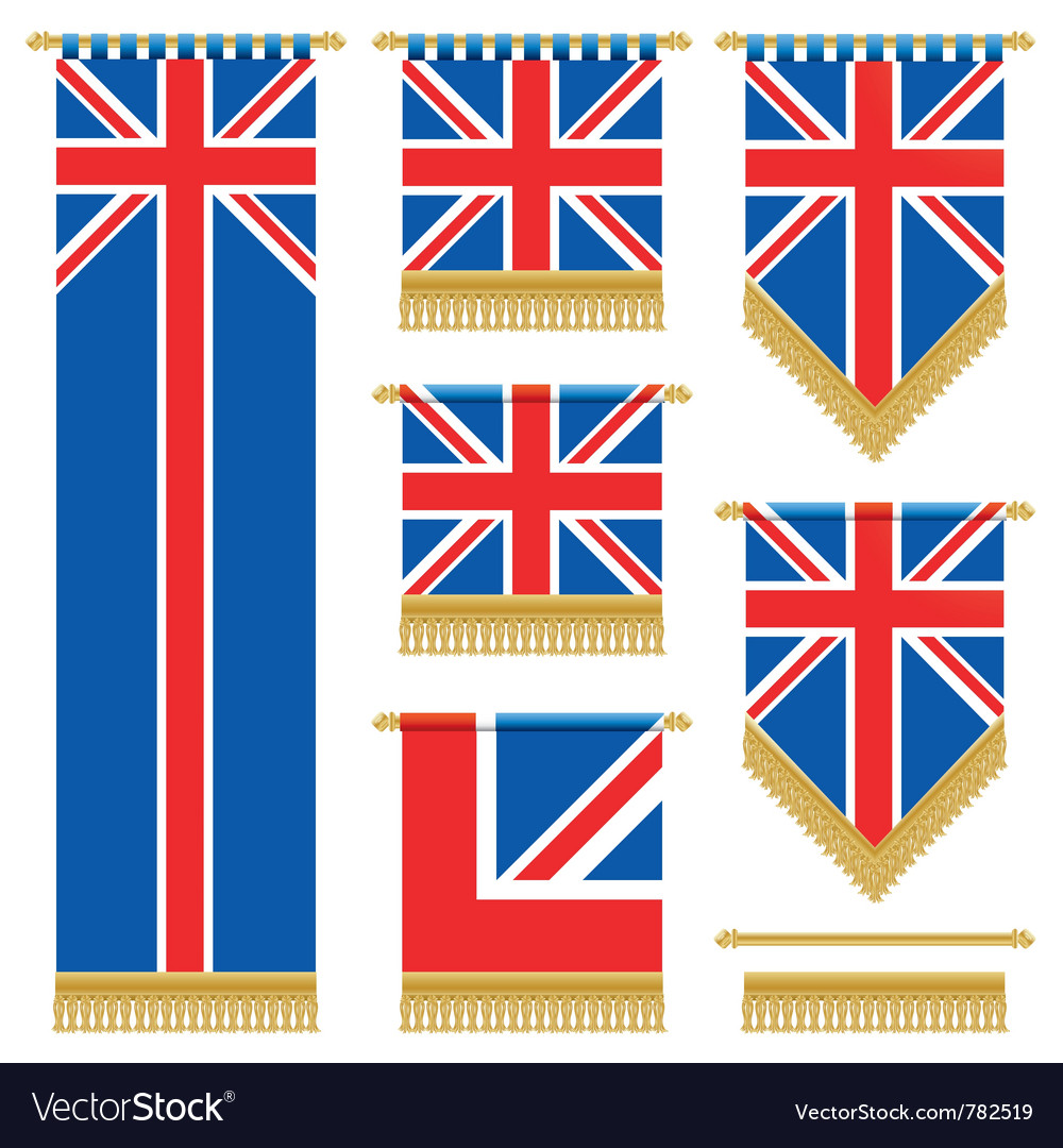 Uk wall hangings vector