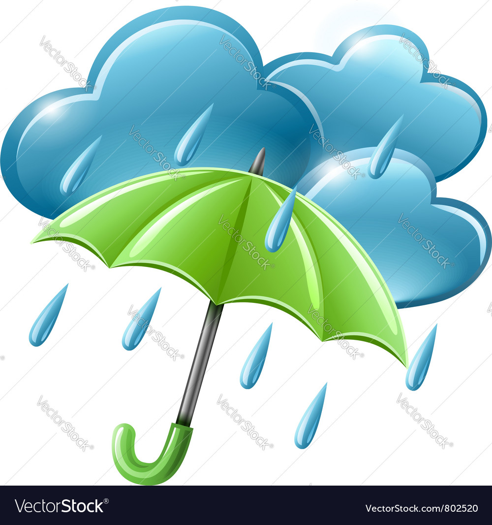 Rainy weather icon with vector