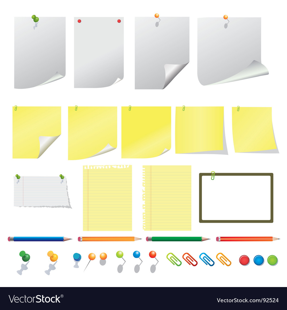 Office equipments vector