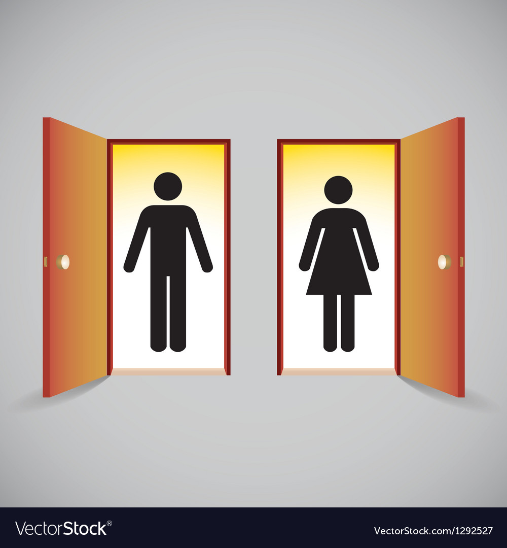 Open doors vector