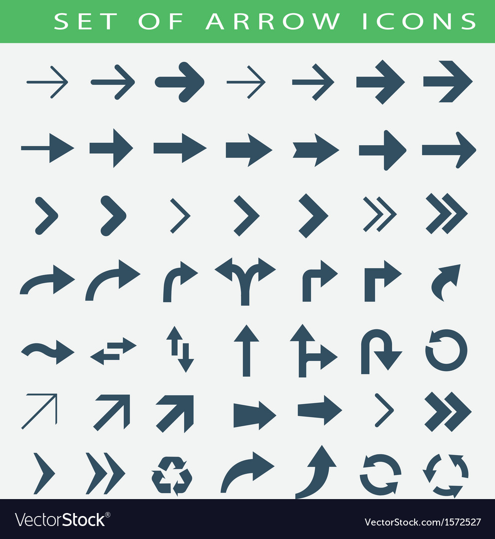 Set of arrow icons vector