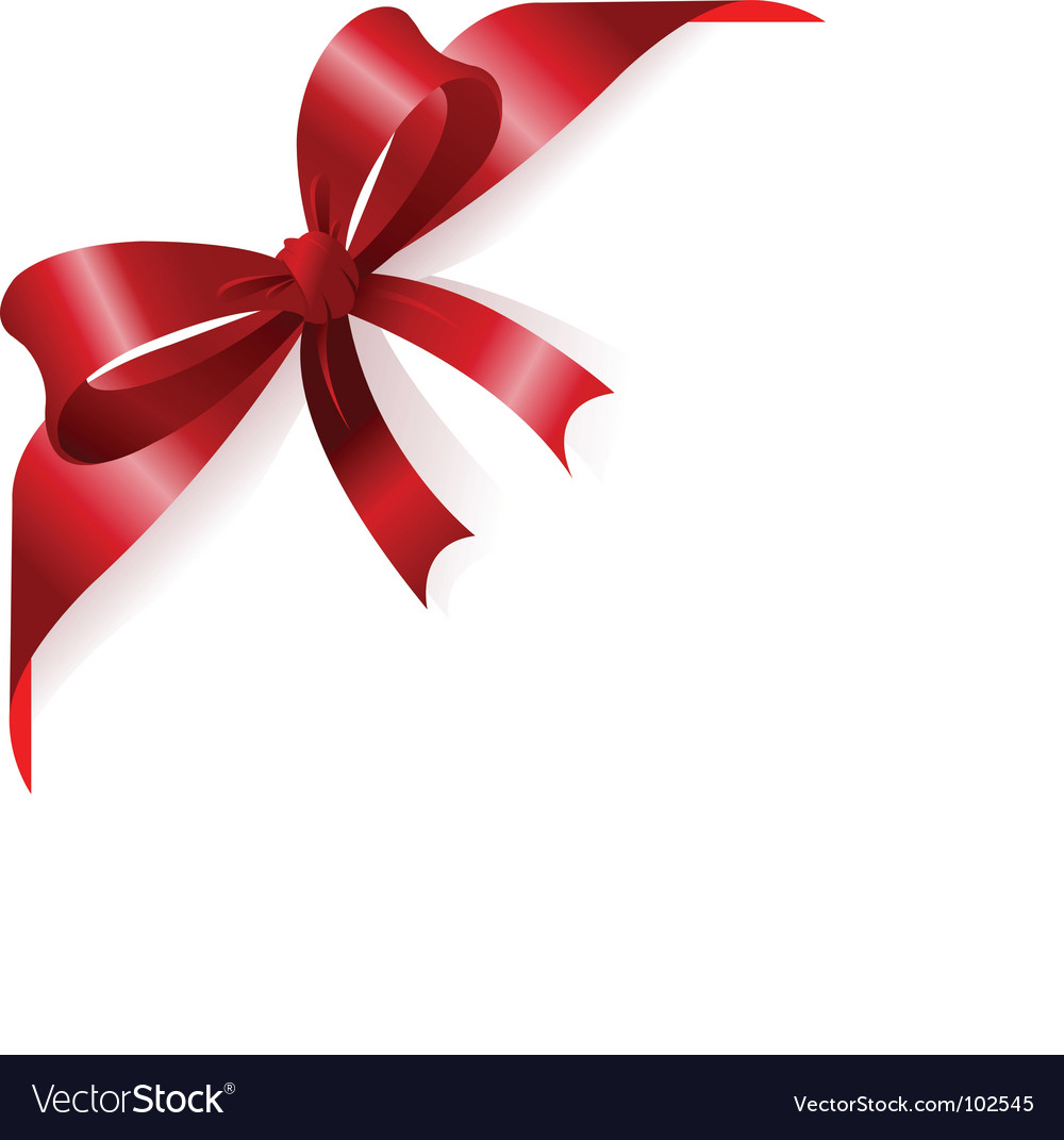 Red ribbon vector by Dazdraperma - Image #102545 - VectorStock