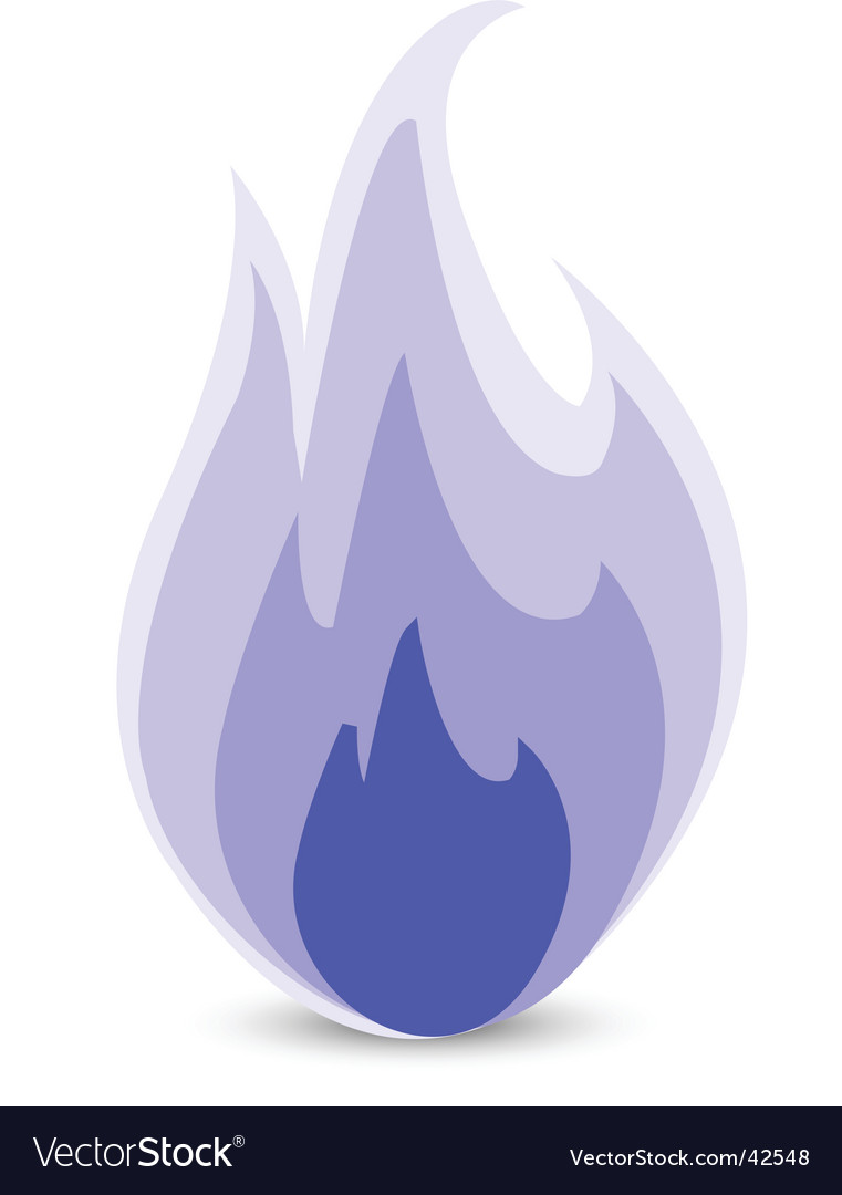 Blue flame vector