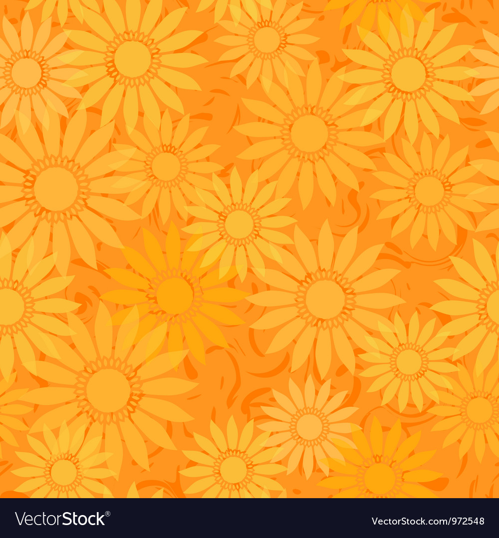 Seamless sunflowers pattern background vector