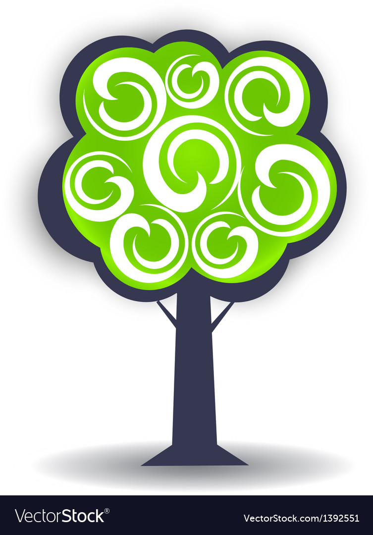 Season tree logo design element