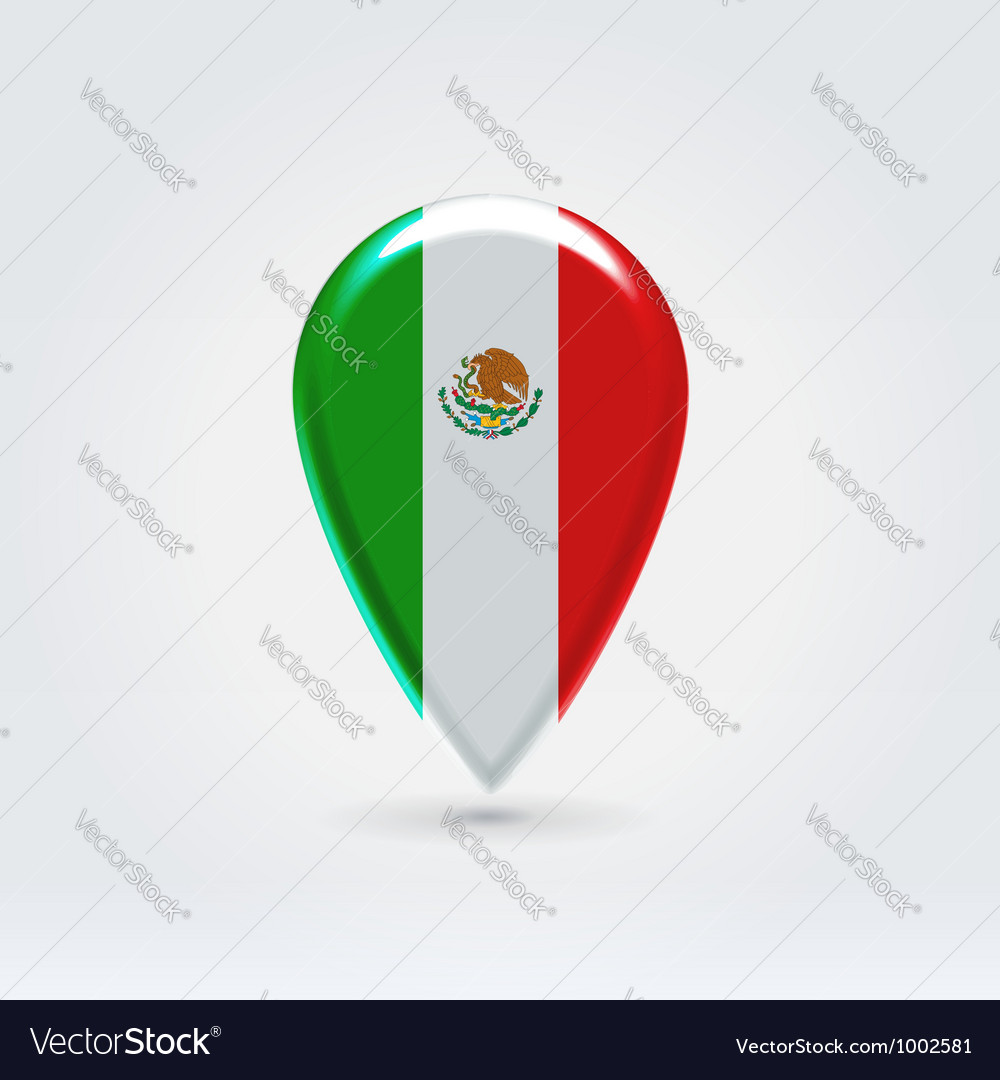 Mexican icon point for map vector
