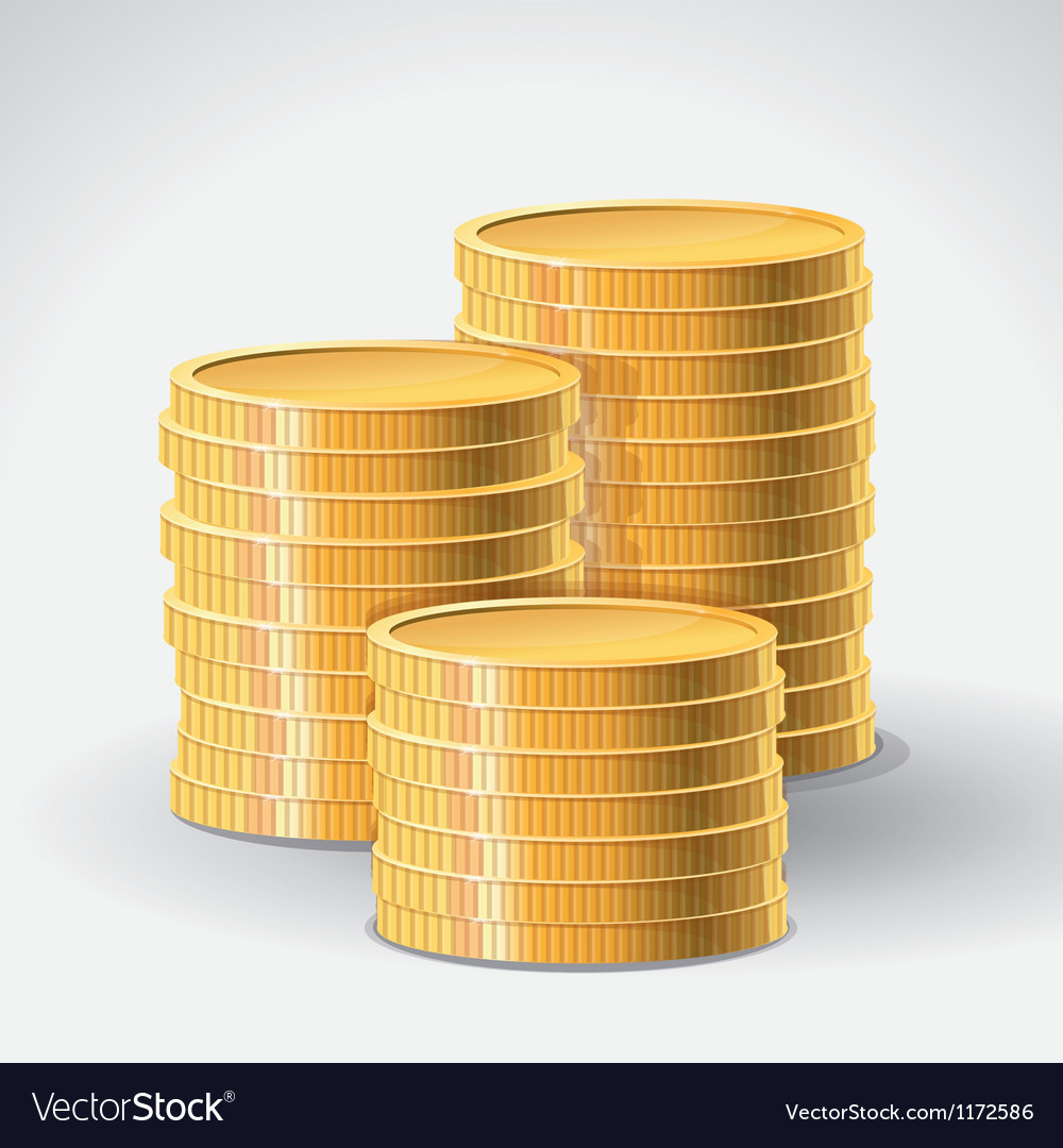 Golden coins  abstract finance concept vector