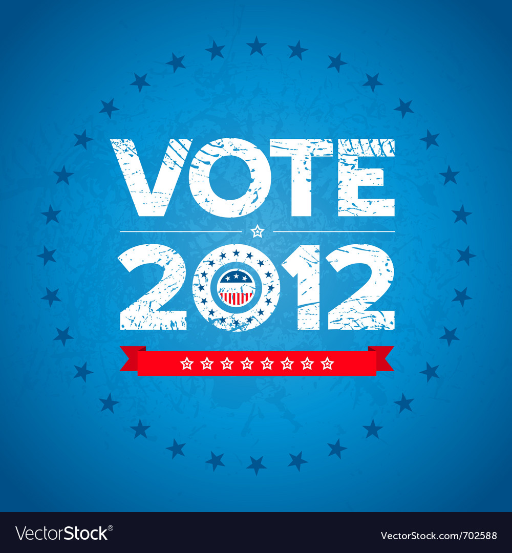 Vote 2012 background vector