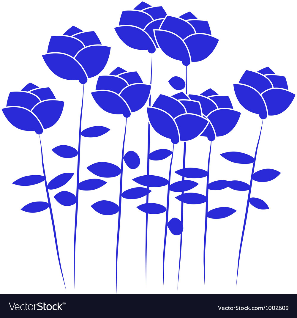 Free blue flowers vector
