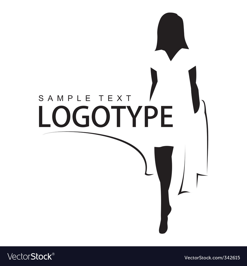 Beautiful girl silhouette vector