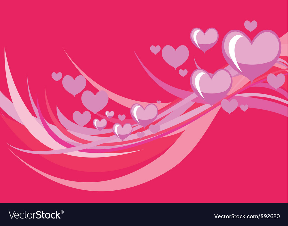 Stylized hearts vector