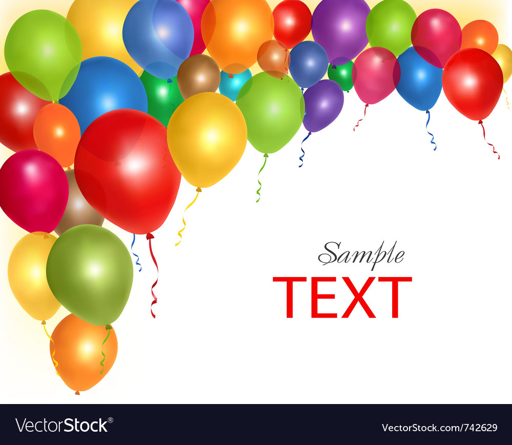 Balloons frame composition vector