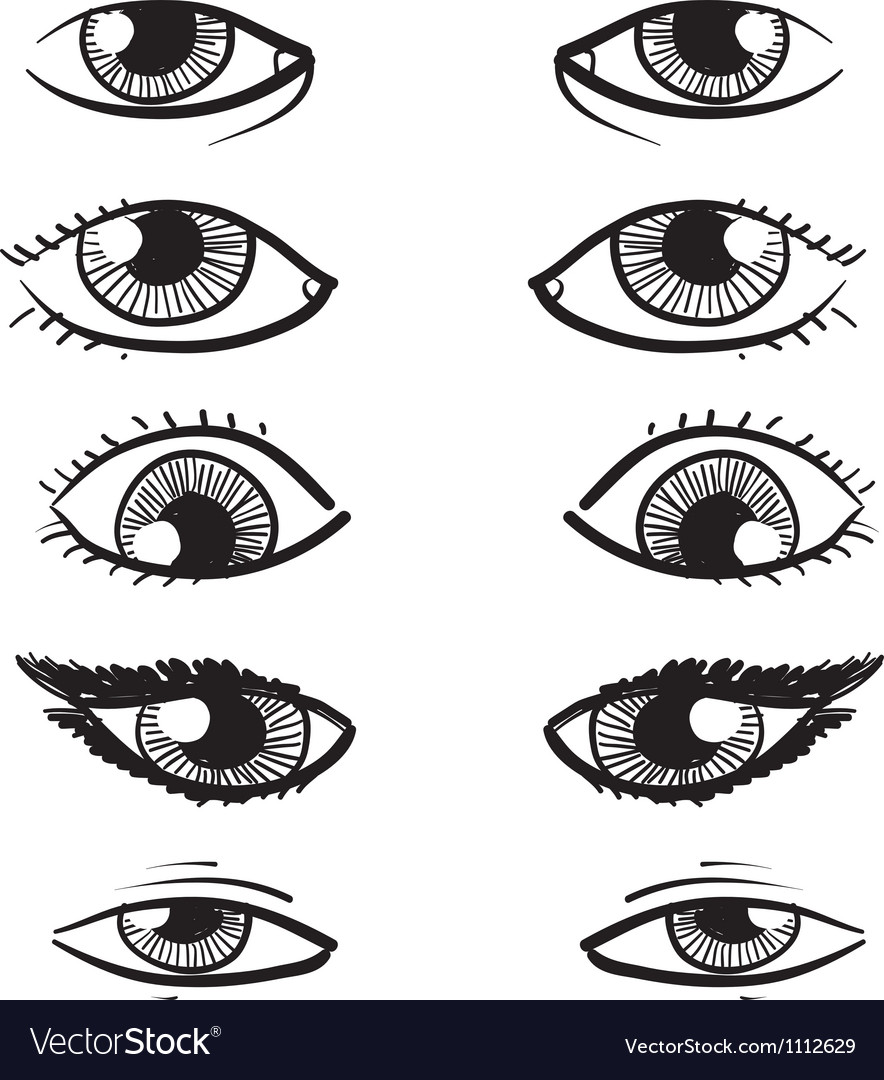 Doodle facial features eyes vector by lhfgraphics - Image #1112629 ...