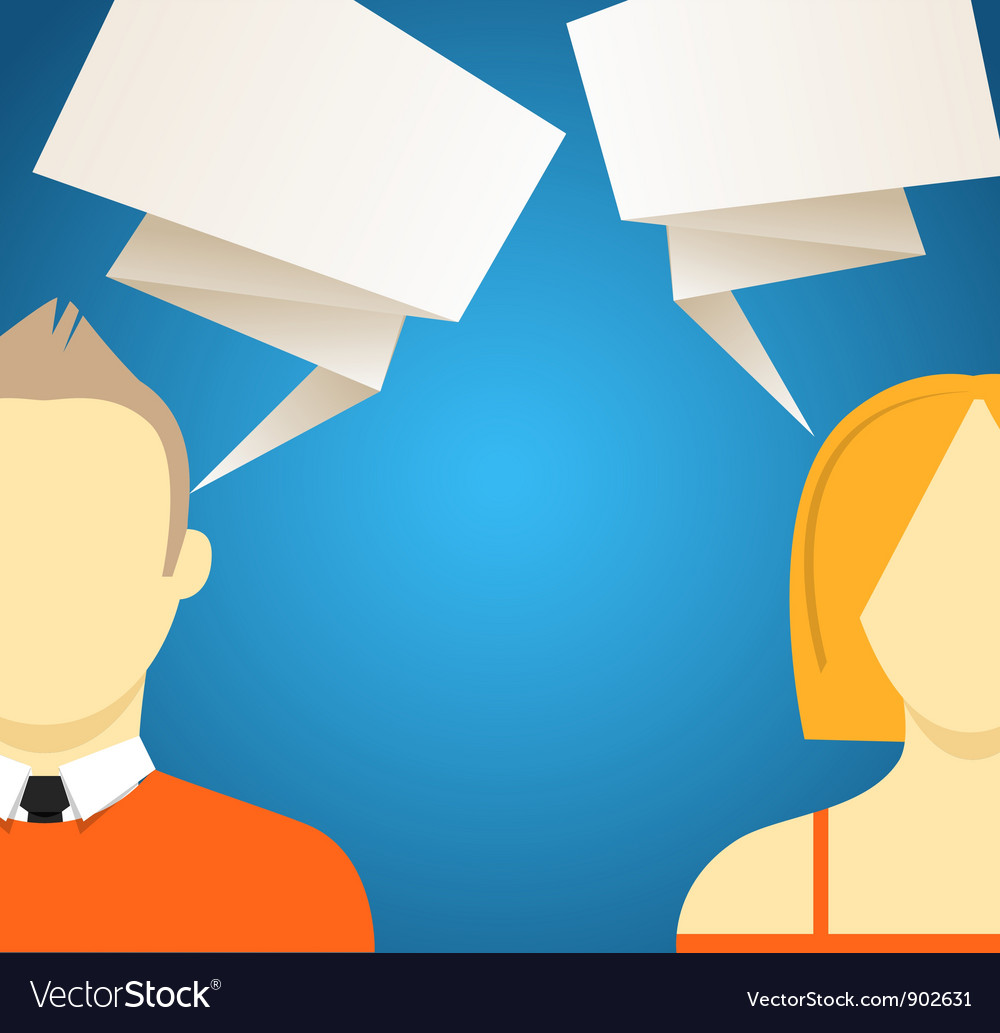 Talking people vector