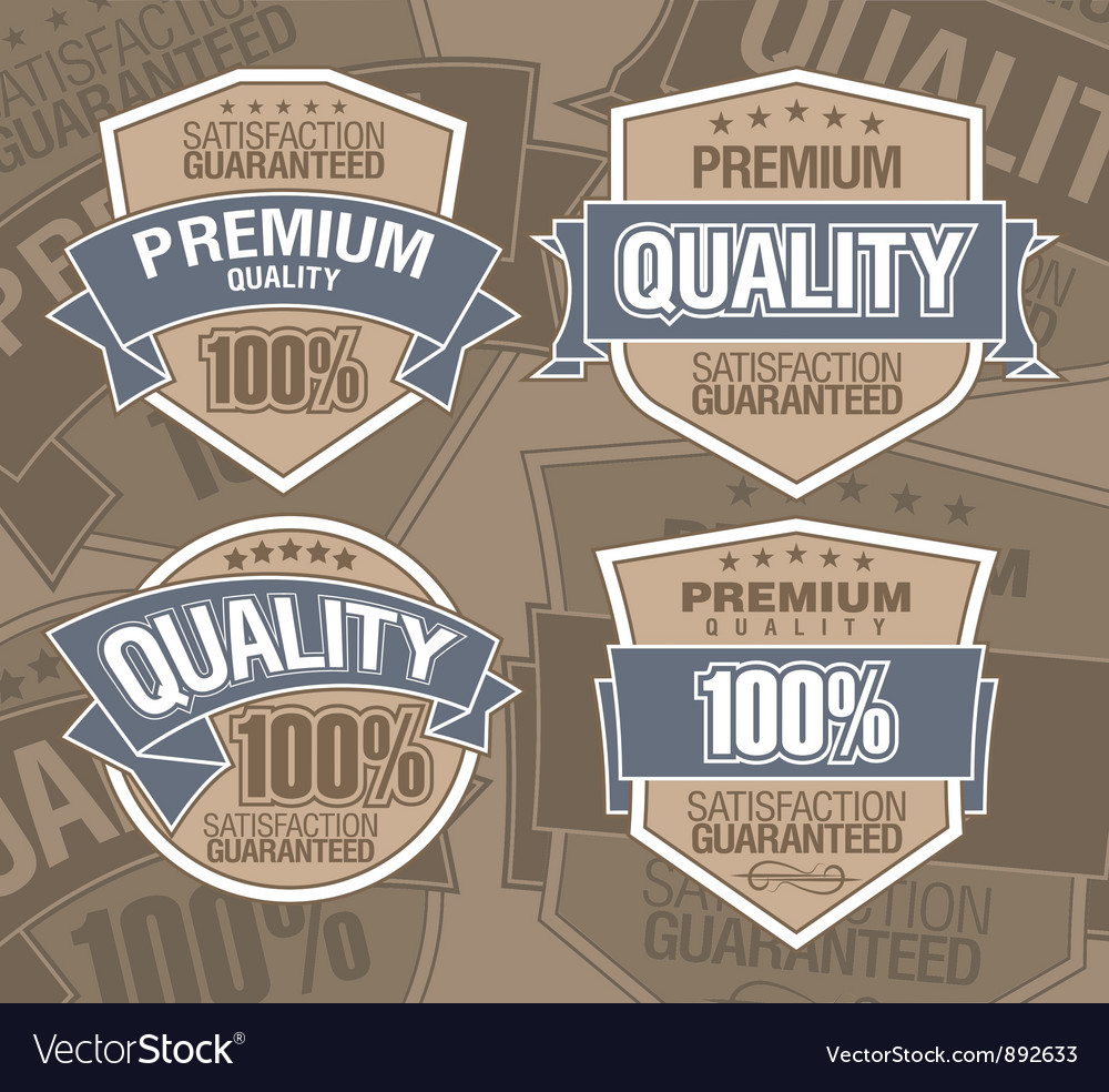 Premium label vector