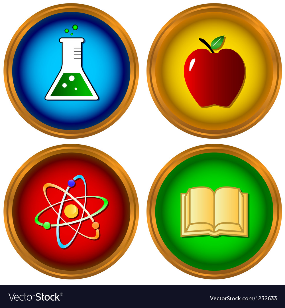 Set on a scientific subject vector