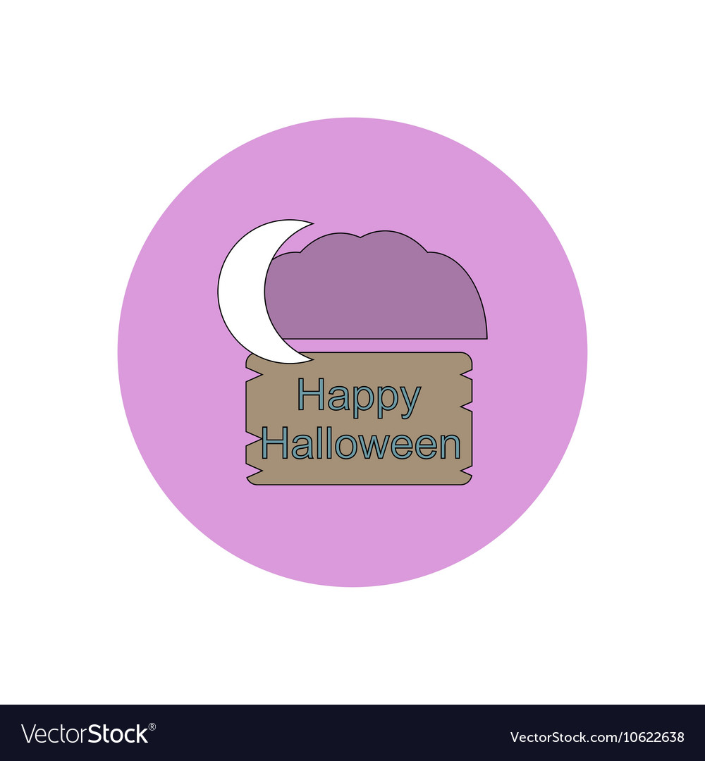 In flat design happy halloween