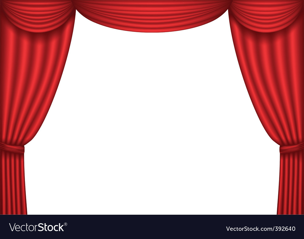 Red velvet curtains stage - Red Curtain Vector By Epic22 Image 392640 Vectorstock