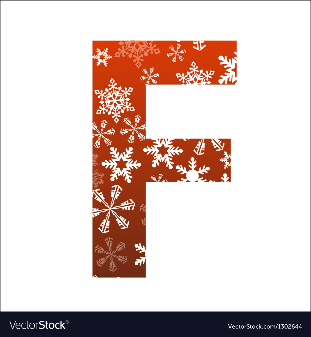 F letter vector