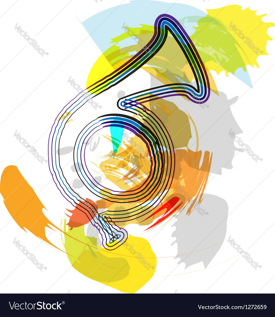 Abstract music instrument vector