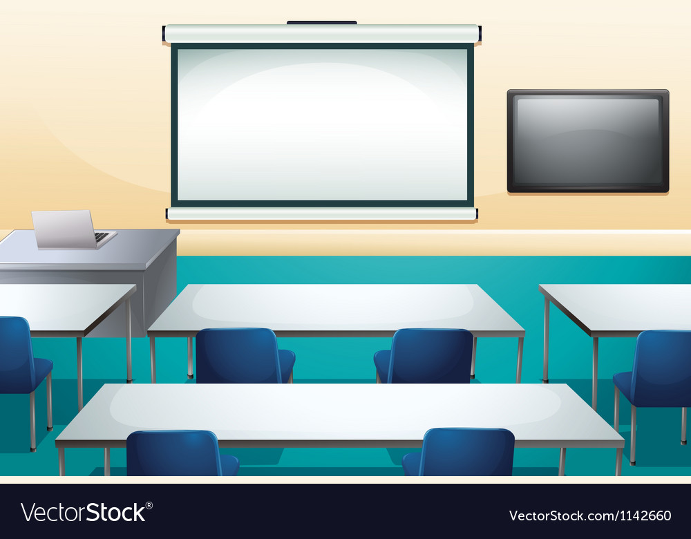 Clean and ogranized classroom vector