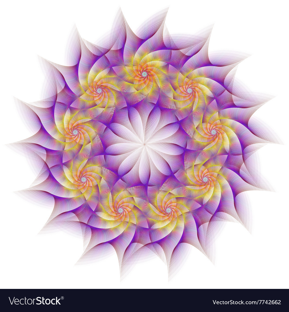 Circular fractal flower design