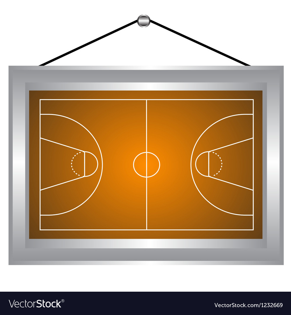 Basketball platform in a frame vector