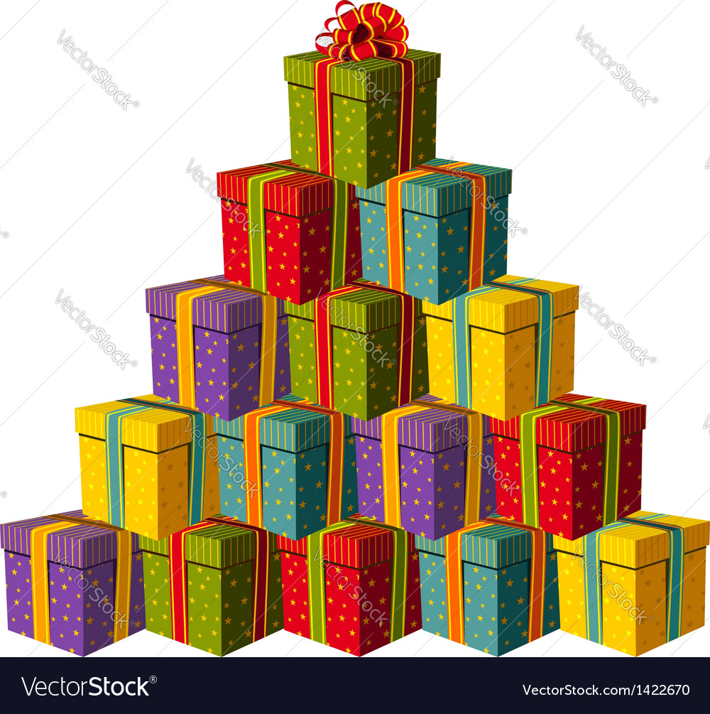Gift boxes fo vector