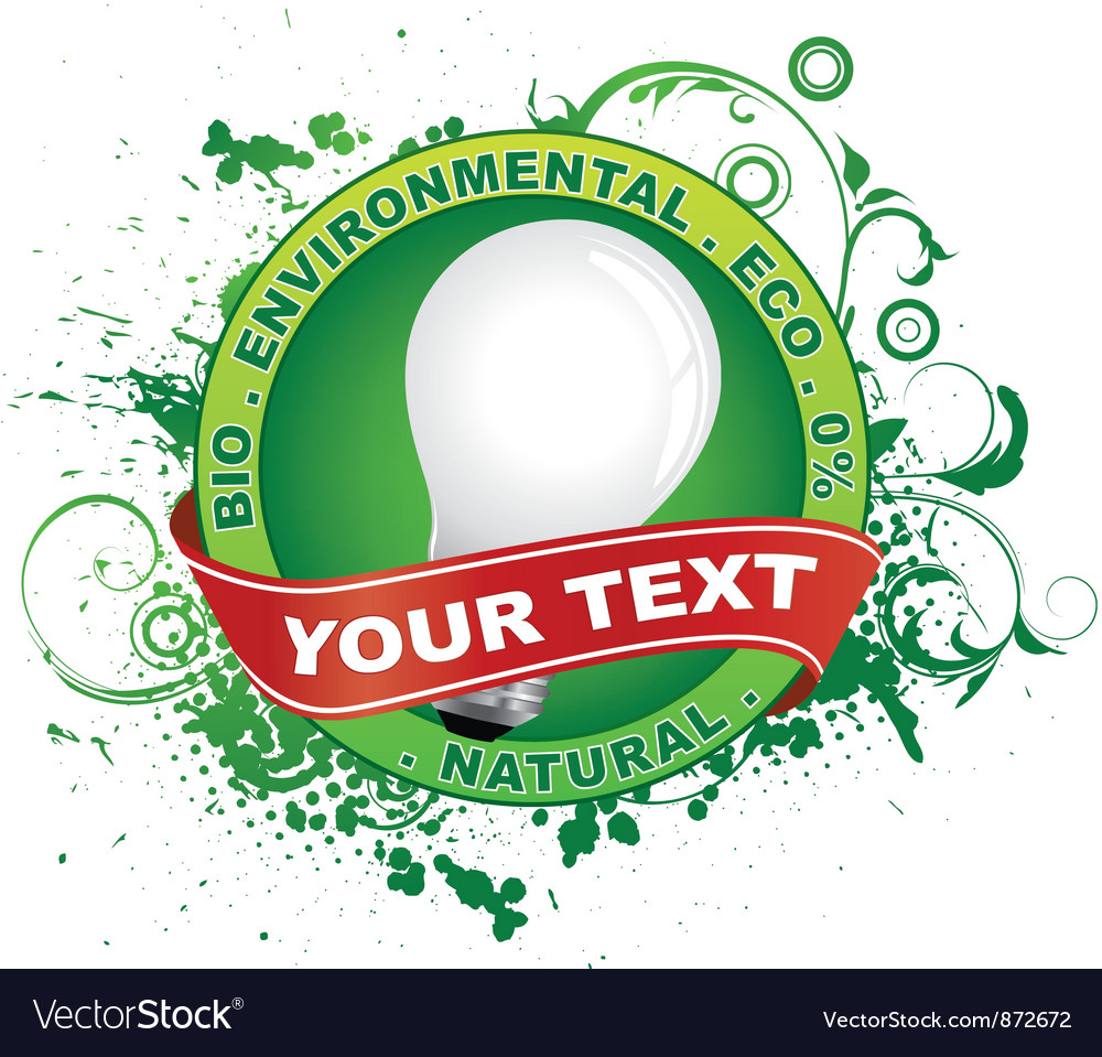 Free eco label vector