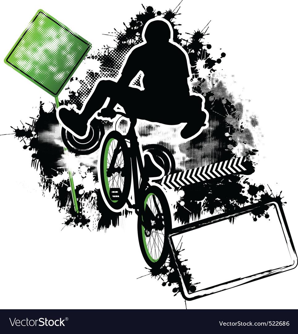 Bmx cyclist template