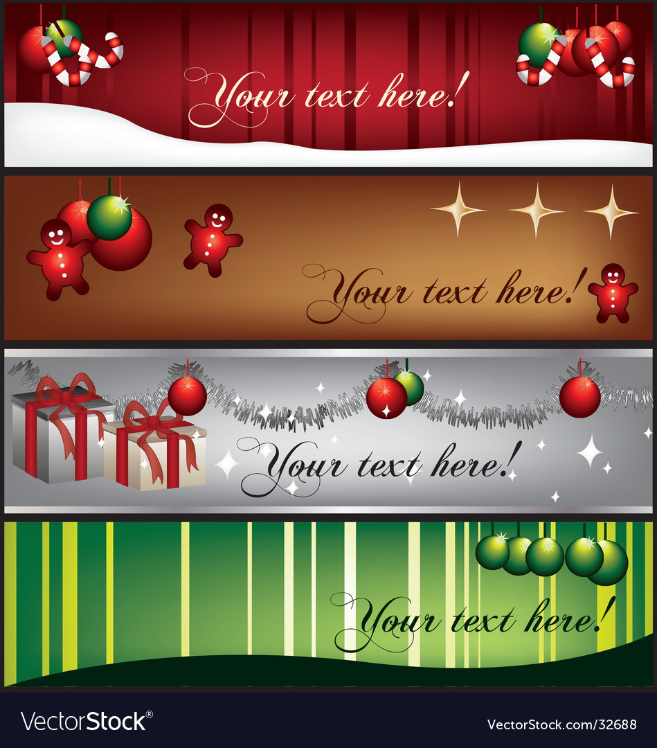 Greetingbanners vector