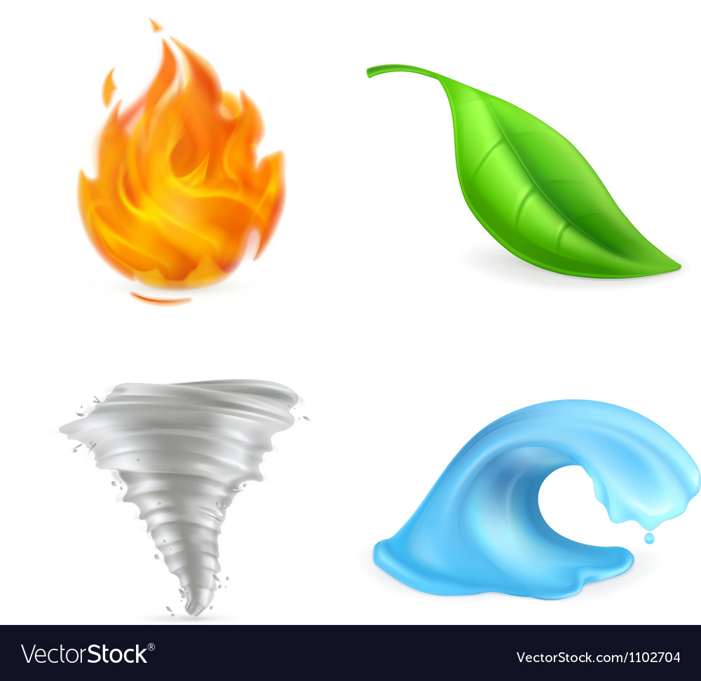 Natural elements vector