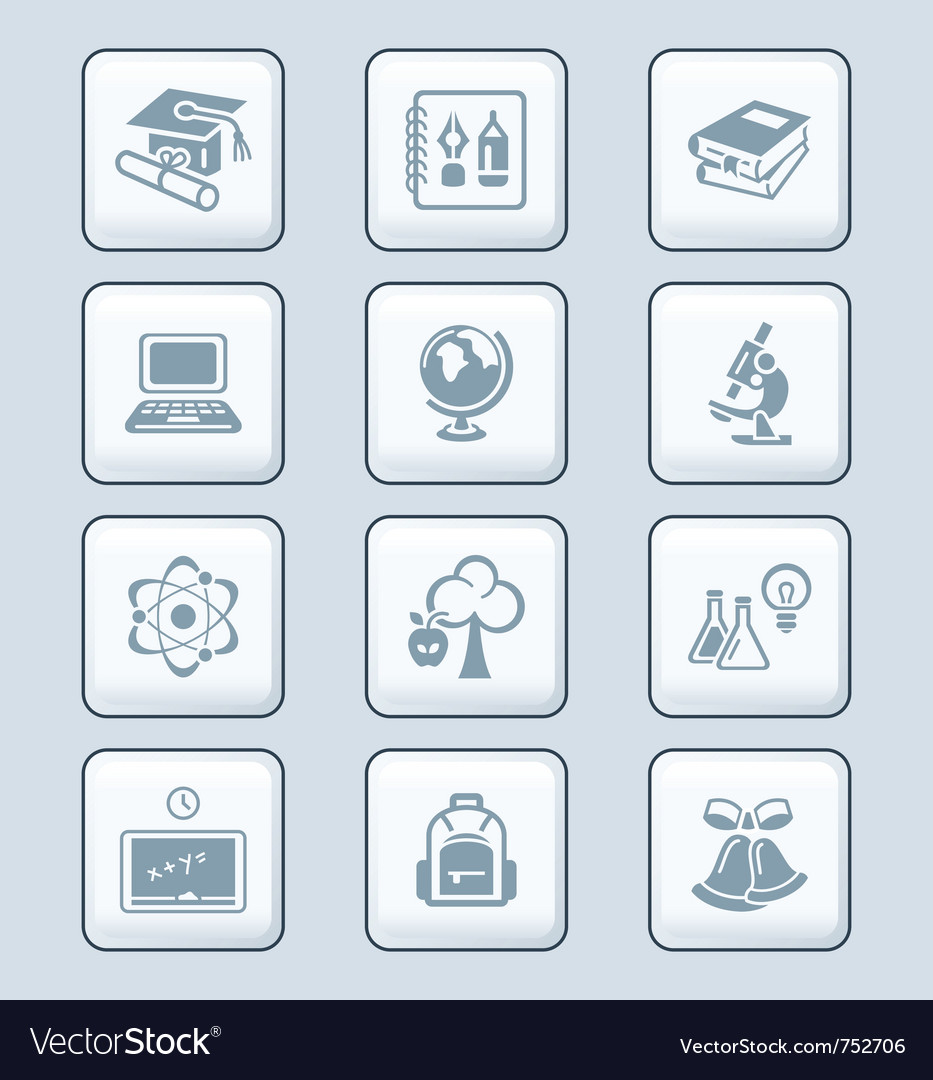 Education icons  tech series vector