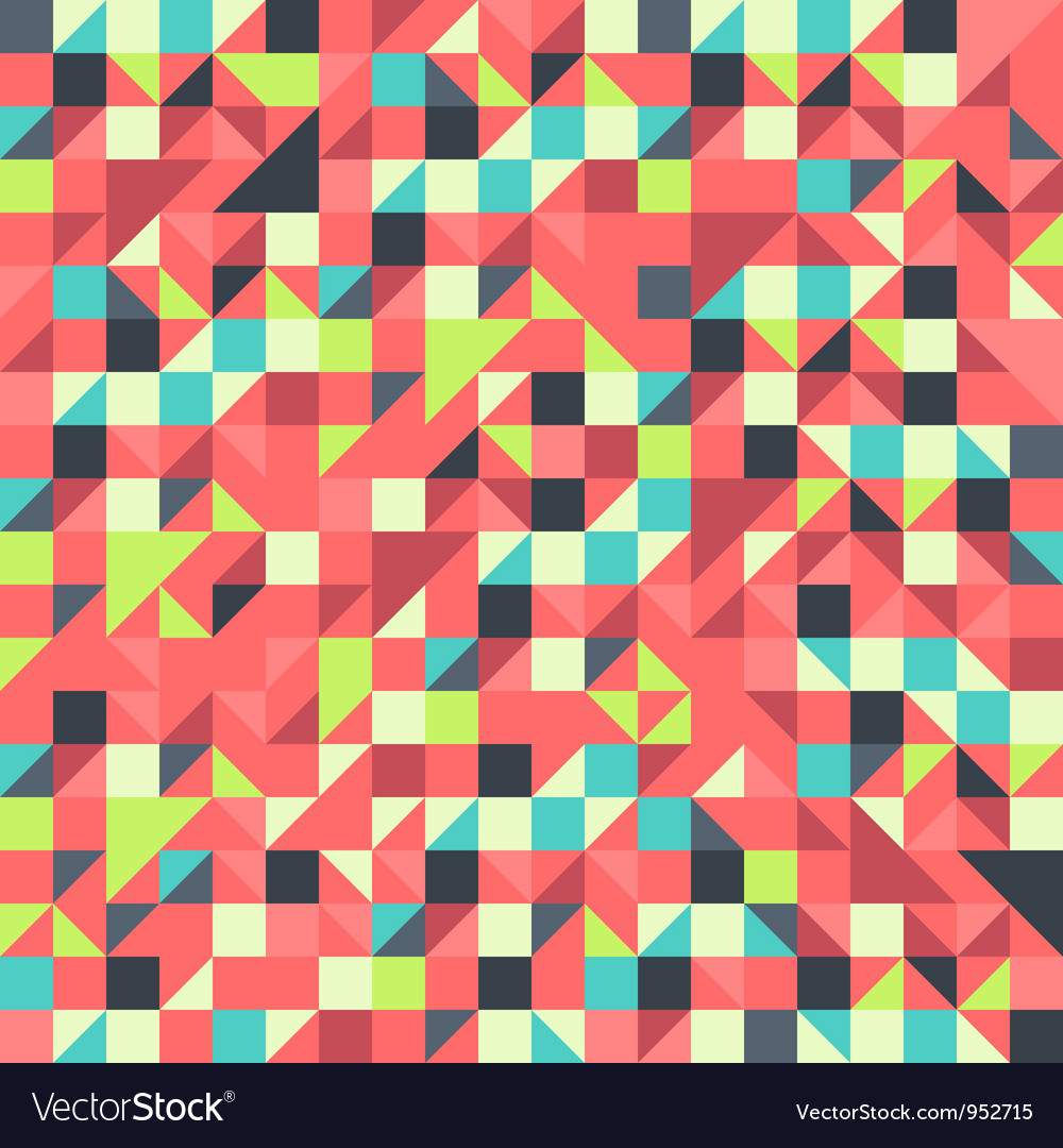 Orange and blue pattern vector