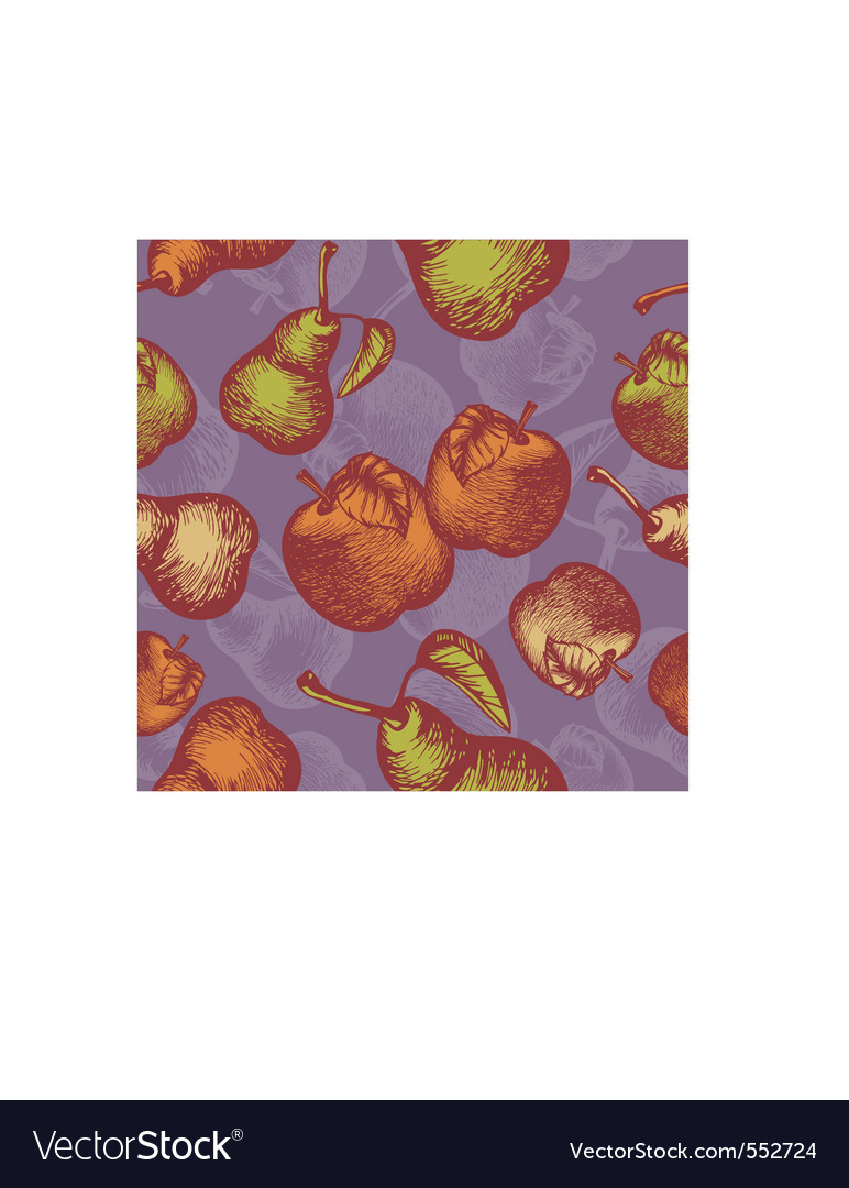 Retro apples vector