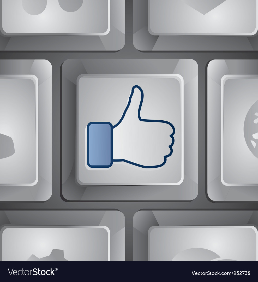 Like button  social media concept vector