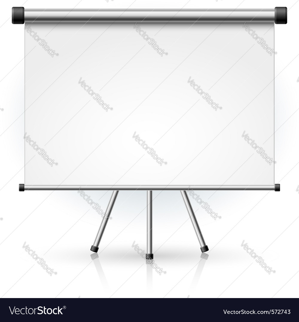 Blank portable projection screen vector