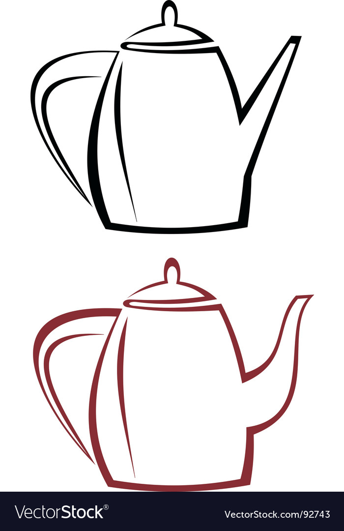 Kettle teapot vector