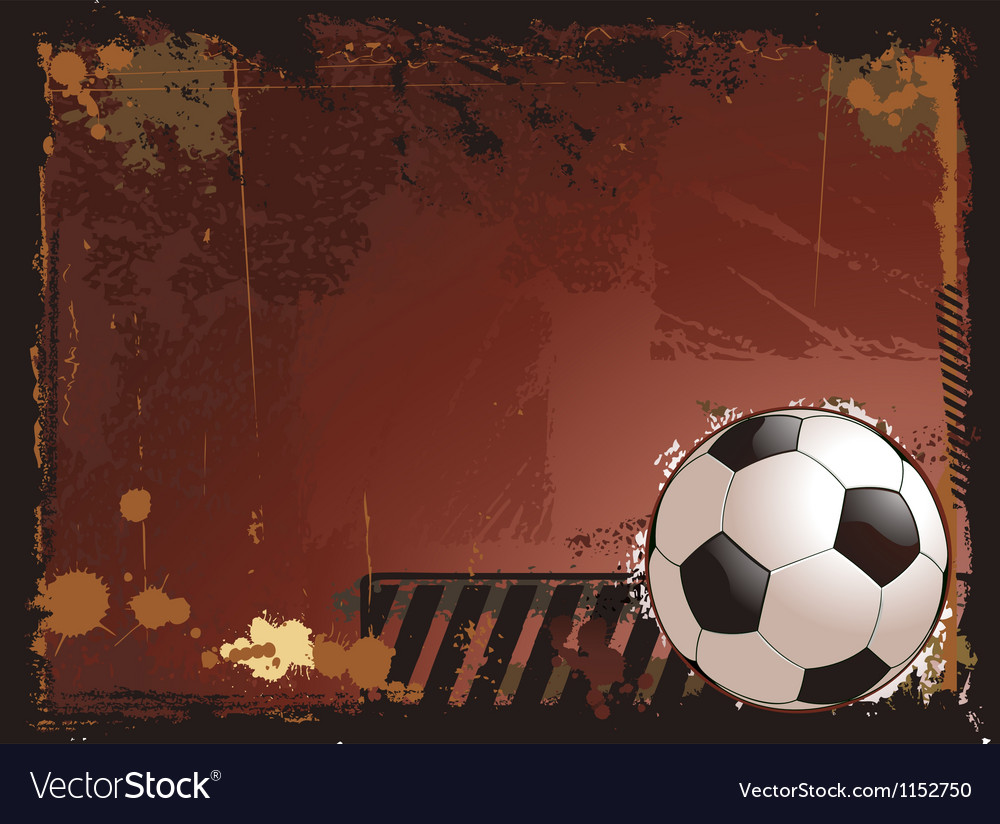 Grunge soccer background vector