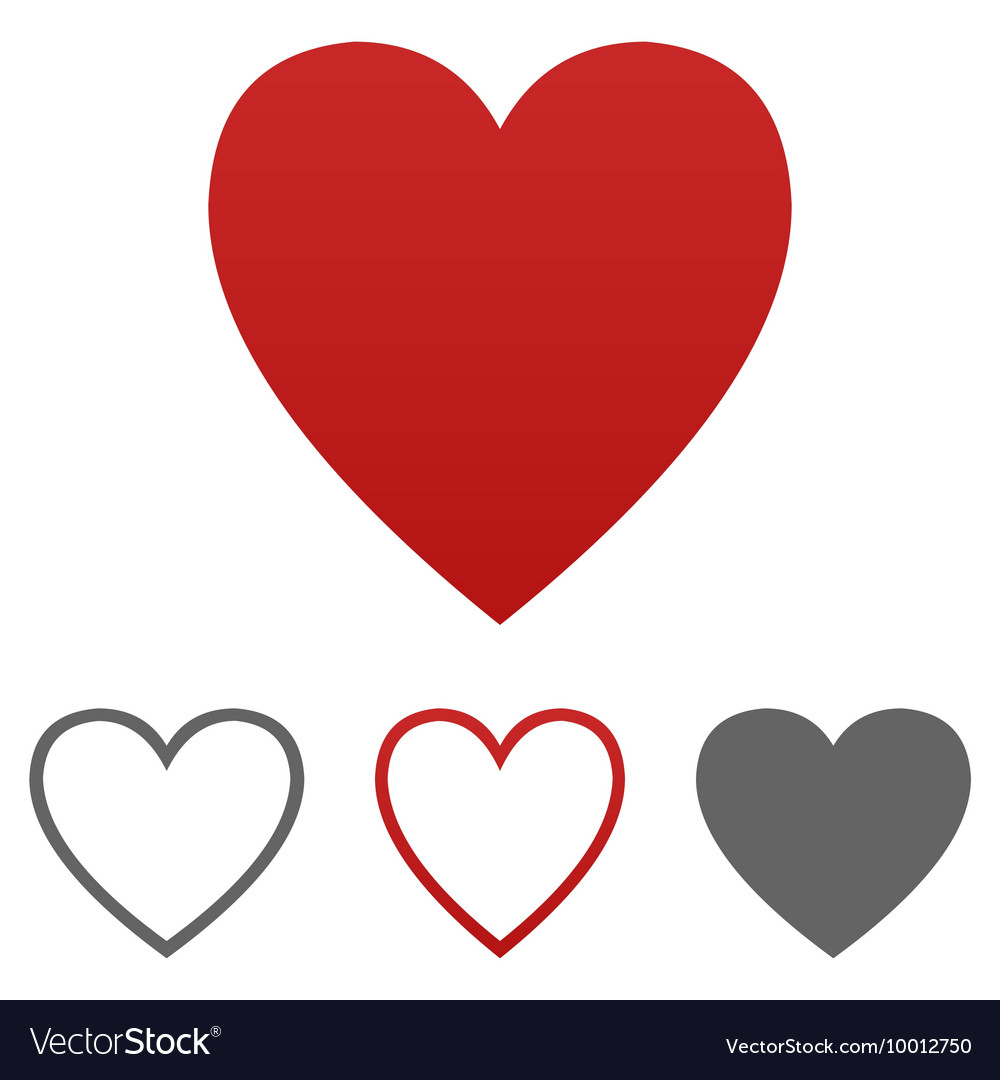 Love heart logo set