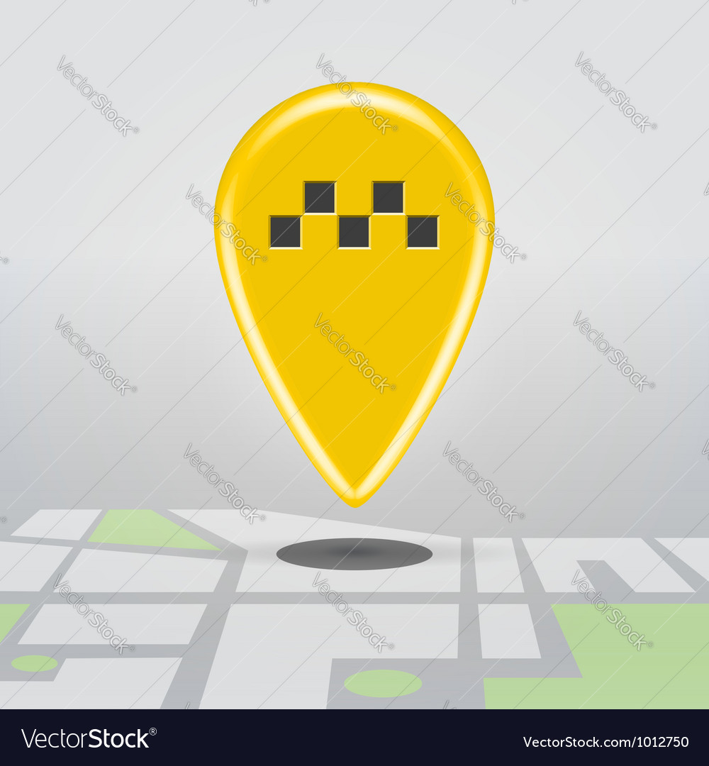 Taxi cab point vector
