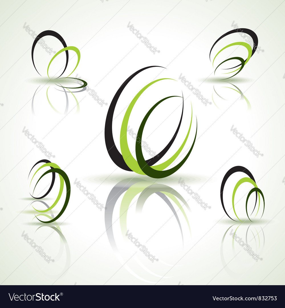 Abstract symbols vector