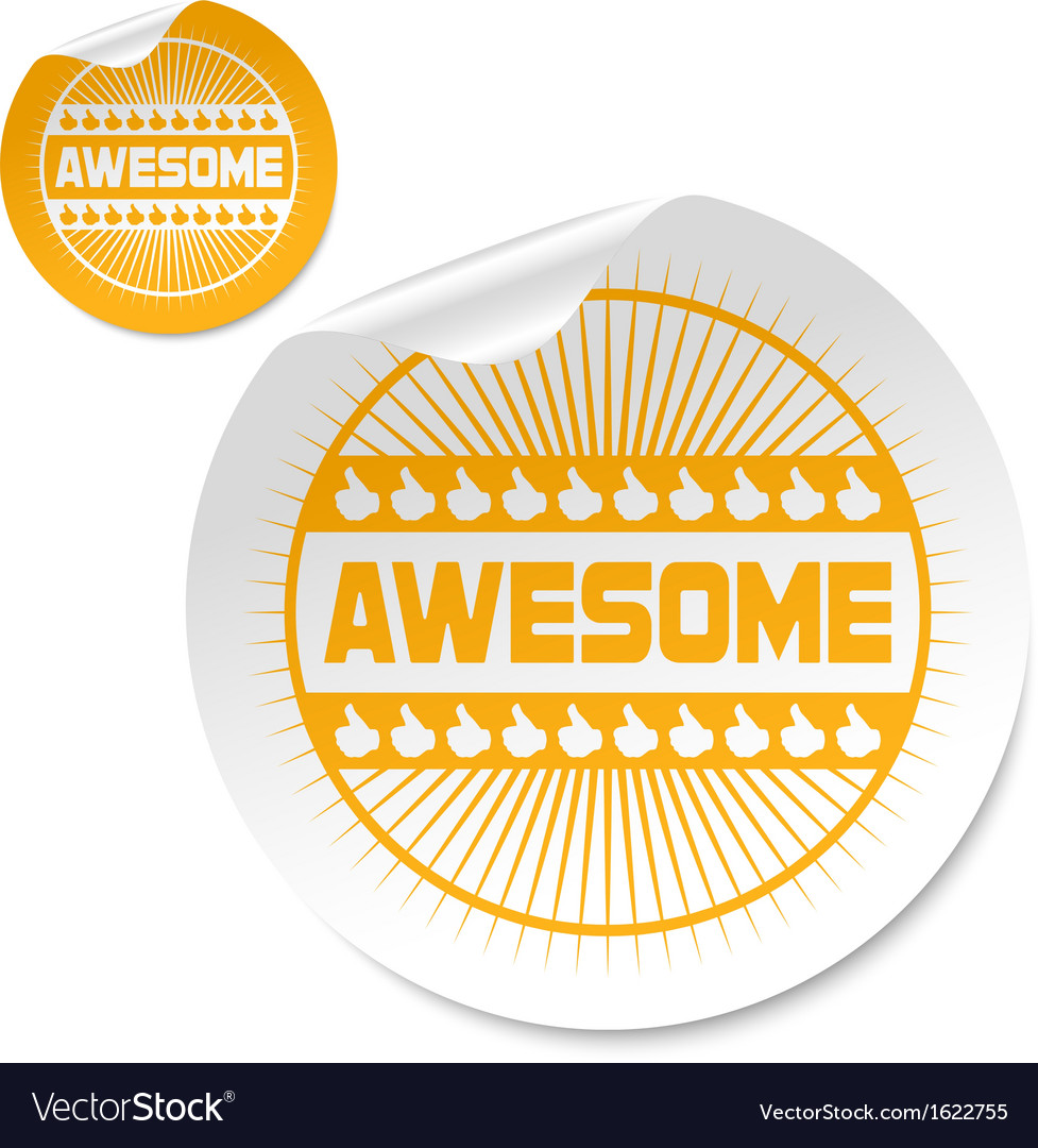 Awesome stick vector