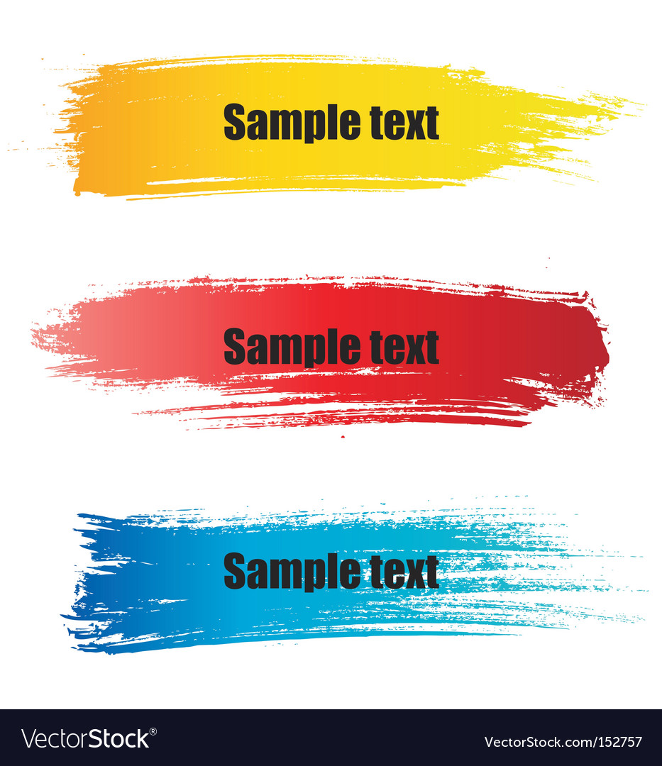 Painted grunge banners vector