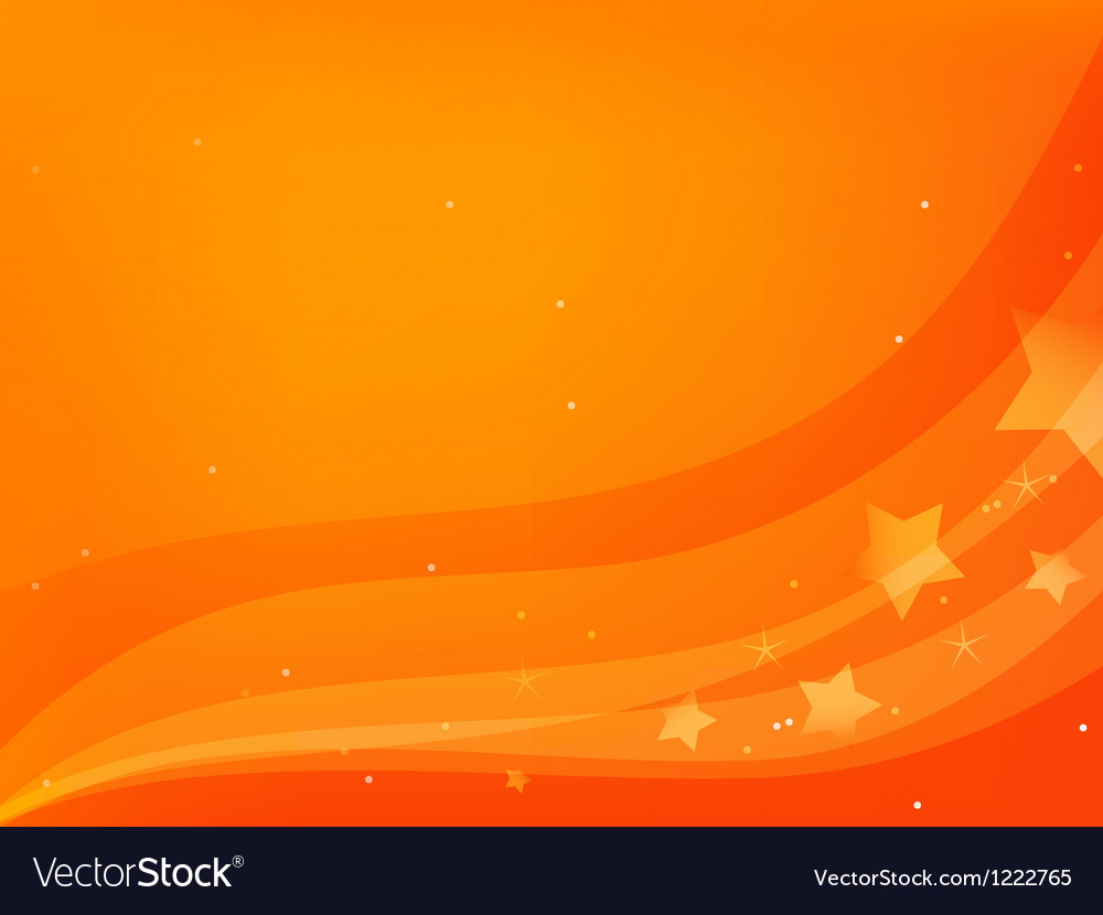 Redorange background with stars vector